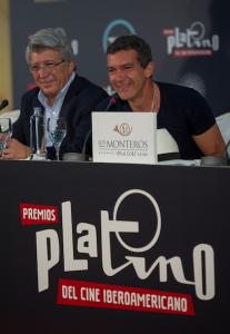 Premios Platino 2015 Antonio Banderas y Enrique Cerezo Productor Malaga