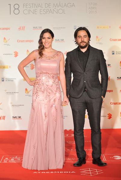 Elena Martinez y Ezekiel Montes durante el Festival de Málaga