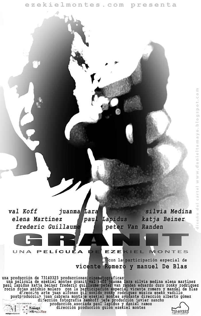 Granit es una Pelicula de Ezekiel Montes, protagonizada por Juanma Lara, Elena Martinez, Vicente Romero, Val Koff y Manuel de Blas, rodado en Marbella Cine