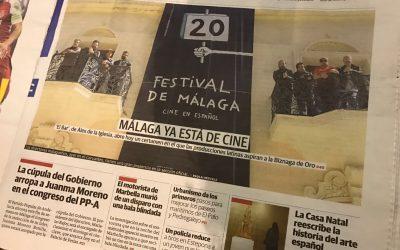 Portada del DiarioSur al cine en Malaga